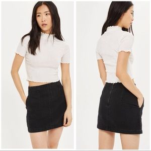 MOTO Denim A-Line Skirt